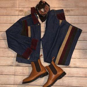 Vintage high waisted denim w/ matching jacket